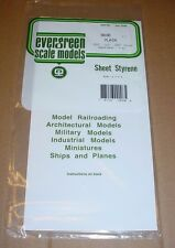 """Evergreen Styrene Sheet Plastic Assortment .010 .020 .040 12"""" x 6"""" White Plain"""