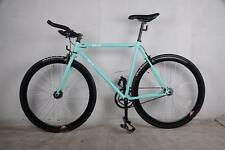 R4 TURQUOISE FIXIE ROAD BIKE  W/ BULL BARS FLIP FLOP HUB 54CM W/ THICKSLICKS