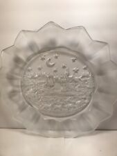 MIKASA ''SILENT NIGHT'' PLATTER PLATE SANTA CLAUS CHRISTMAS HOLIDAY  13 1/2''