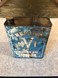 Neptune 1 gallon oil tin