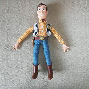 1995 Disney Pixar Toy Story Pull String Talking Woody Doll Thinkway Toys w/o Hat