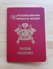 Macedonia, Republic of Vevcani souvenir passport
