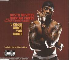 BUSTA RHYMES & MARIAH CAREY - I Know What You Want (UK 4 Tk Enh CD Single)