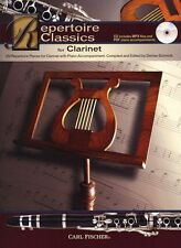 Repertoire Classics clarinette apprendre à jouer clarinette piano Livre & CD
