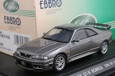 Ebbro 43155 1:43 Nissan Skyline GT-R R33 V-spec Die Cast Model Car Titanium Grey