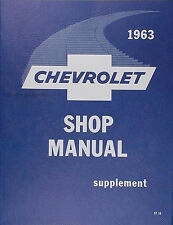 Best 1963 Chevy Repair Shop Manual 63 Impala Bel Air Biscayne Chevrolet Wagon