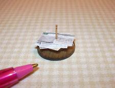 Miniature Taylor Jade Bill Spike for Business Office Desk: DOLLHOUSE 1/12 Scale