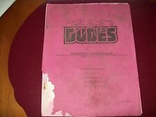 Bad Dudes Arcade Game Operation & Ser. Manual, OK cond.