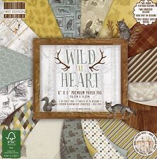 First Edition Wild at Heart 6x6 Premium 64 Sheet Paper Pad Fepad136