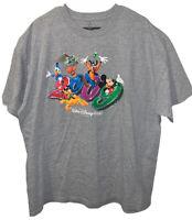 Walt Disney World 2009 Men's Mickey Goofy Donald Nemo Buzz Pluto T-Shirt Sz 2XL