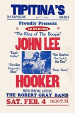 John Lee Hooker at Tipitina's In New Orleans Concert Poster 1979  12x18