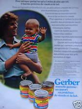 PUBLICITÉ 1973 GERBER PETITS POTS NOUVELLE GAMME - ADVERTISING