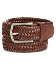 Tommy Hilfiger TH Flex Braided Web Belt Tan Mens 34 New