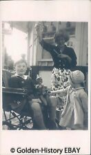 VINTAGE BLACK WHITE PHOTOGRAPH PHOTO OF BOY IN WHEEL CHAIR & PUPPET1950S SOCIAL