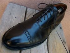 ALDEN Mens Dress Shoes Black Calfskin Balmoral Lace Up Cap Toe Oxford Size 10.5D