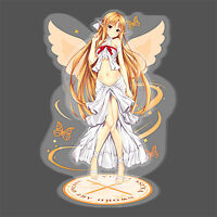 Sword Art Online Yuuki Asuna Acrylic Figure Stand Table Decors Model Toy Gift