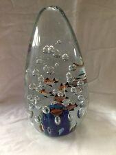 "8"" Tear Drop MURANO Art Glass Fish Aquarium Sculpture - Unsigned Estate Vintage"