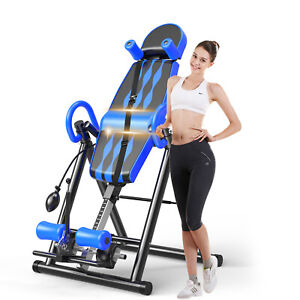 Foldable Premium Gravity Inversion Table Back Therapy Fitness Reflexology
