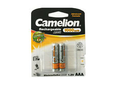 2 x Camelion Rechargeable Akku NiMH Micro AAA R3 / HR3 1000mAh 1,2V