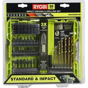 New RYOBI 56 Piece Impact Drilling And Driving Set FAST & FREE POST