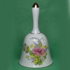Service Hand Bell Fine Porcelain with Floral Decoration Print