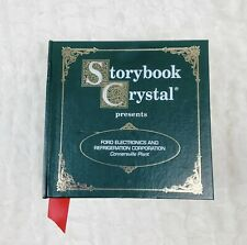 Storybook Crystal Ford Connersville Plant Whiskey Glass New In Box