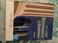 The Legal Environment of Business Hardcover 13th edition (c)