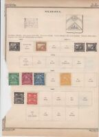 nicaragua stamps on album page ref r11831
