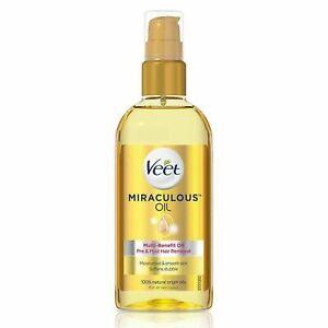 Veet Miraculous Oil 100 ml Natural Oil Multi-Benefit Pre Post Hair Removal
