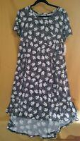 LuLaRoe Disney Carly Dress Mickey Mouse Classic Charcoal Gray NEW Size Medium
