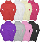 Girls Ribbed Polo Neck Jumper Tops New Baby Kids Long Sleeve Shirt Ages 0 - 14 Y