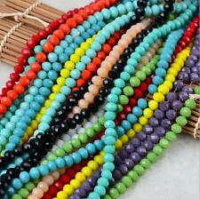 70pcs Glass Crystal Faceted Beads 8mm Loose Bead For Jewellery Making Craft