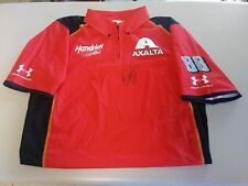 Dale Earnhardt Jr Signed Autographed Team Issued Axalta Crew Shirt JSA COA