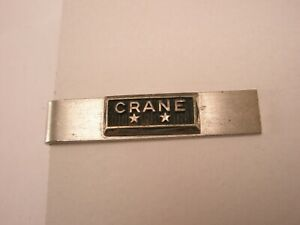 -Crane STERLING SILVER Vintage BALFOUR Tie Bar Clip products corporation