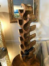 Handmade Wine rack 12 holes solid Acacia wood handcrafted