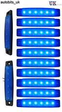 10 pcs Blue 12V 6 LED Side Marker Indicators Lights Truck Trailer Bus NEW