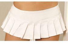 Mini Skirt Pleated New Adult Womens Sexy Valentine Lingerie Elegant White Medium