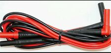 FLUKE TL224 SUREGRIP INSULATED TEST LEAD (SET OF RED AND BLACK)!