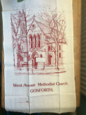 TEA-CLOTH; WEST AVENUE METHODIST CHURCH GOSFORTH NEWCASTLE/TYNE.; NEW UNUSED-