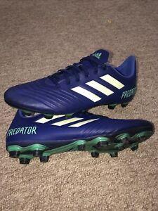 Adidas Predator 18.4 Football Boots Blue Size 11