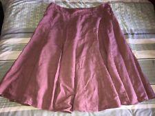 Laura Ashley Skirt Knee Length 100% Linen Pink Size 18