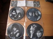 "sisters of mercy 4 x 7"" vinyl interview picture disc in hanging display"