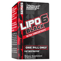 Nutrex Research Lipo-6 Black Ultra Concentrate Weight Loss Pills 30 count