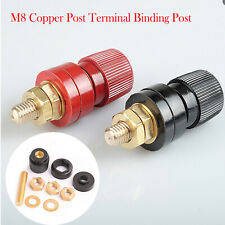M8 Copper Post Terminal Junction Binding Nuts Power Supply Welding Machine 8mm