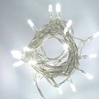 80 LED Cool White String Fairy Lights Battery Operated Xmas Party Decorations