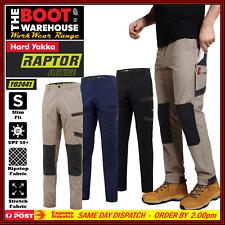 Hard Yakka Y02441 RAPTOR ACTIVE Work Pants. Reinforced Stretch Fabric. Slim Fit!