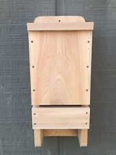 Three Chamber High Quality Cypress Wood Bat House