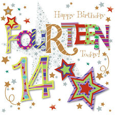 Fourteen Today 14th Birthday Greeting Card By Talking Pictures Greetings Cards