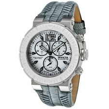 INVICTA RESERVE CHRONOGRAPH DATE GRAY CALF LEATHER STRAP WOMEN'S WATCH 10724 NEW
