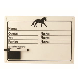 Roma Plastic Name Plate and Pen